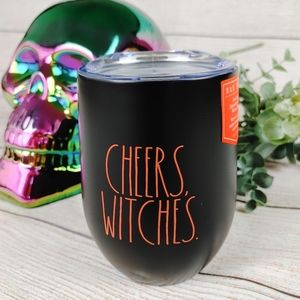 RAE DUNN Cheers Witches Wine Insulated Stainless steel Halloween Metal Cup Mug